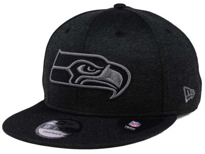Seattle Seahawks New Era NFL Shadow Black Graph 9FIFTY Snapback Cap