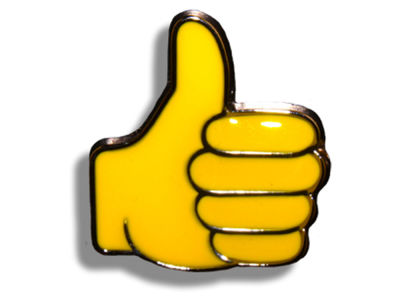 King Pins Thumbs Up Hat Pin