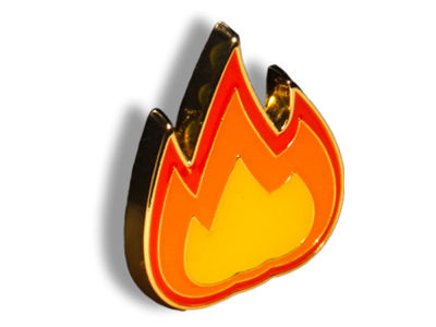 King Pins Fire Hat Pin