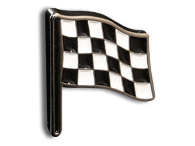 King Pins Checkered Flag Hat Pin