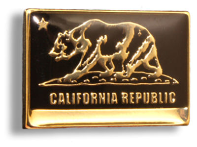 King Pins California Flag Hat Pin