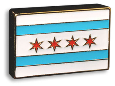 King Pins Chicago City Flag Hat Pin