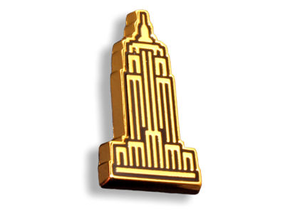 King Pins Empire State Hat Pin