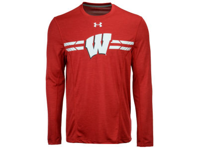 Wisconsin Badgers Under Armour NCAA Men's Sideline Training Long Sleeve T-Shirt