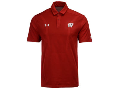 Wisconsin Badgers Under Armour NCAA Men's Sideline Tour Polo