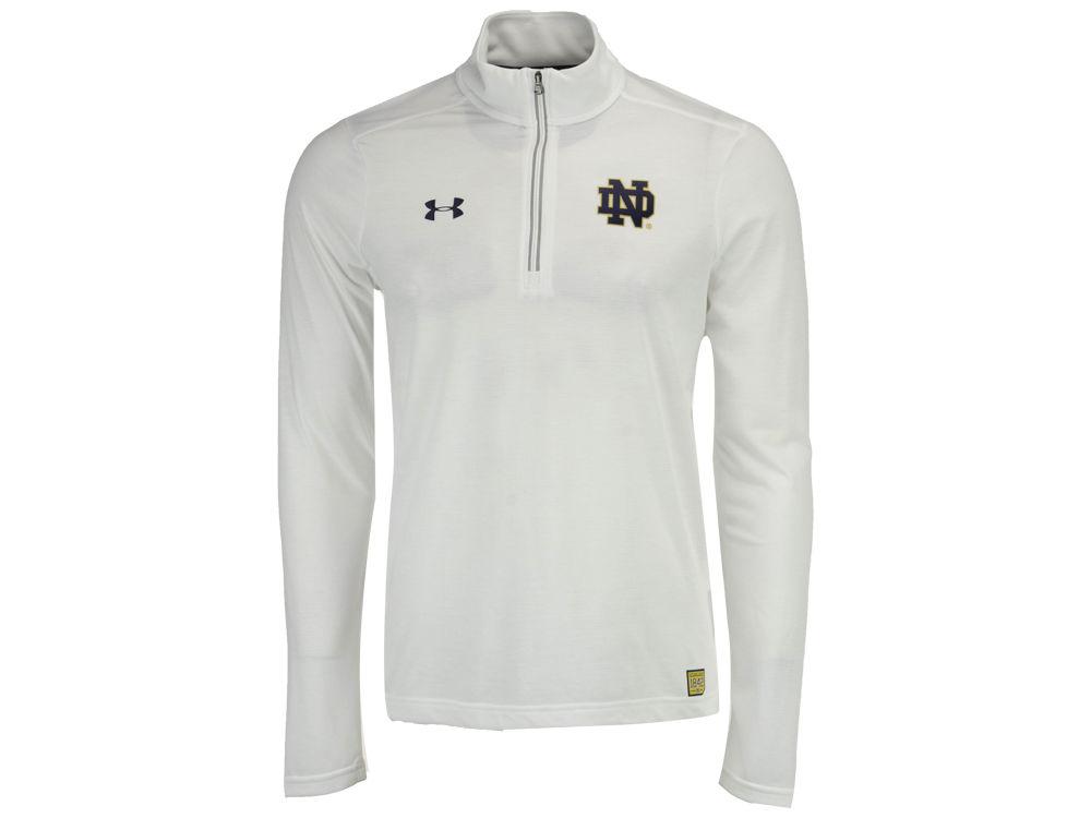 887793640 Notre Dame Fighting Irish Under Armour NCAA Men s Sideline Microthread  Quarter Zip Pullover