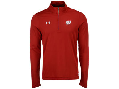 Wisconsin Badgers Under Armour NCAA Men's Sideline Microthread Quarter Zip Pullover