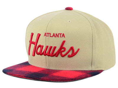 Atlanta Hawks Mitchell & Ness NBA 2 Plaid Snapback Cap