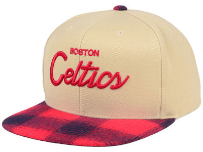 Boston Celtics Mitchell & Ness NBA 2 Plaid Snapback Cap