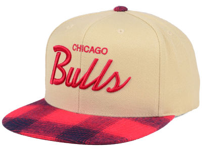 Chicago Bulls Mitchell & Ness NBA 2 Plaid Snapback Cap