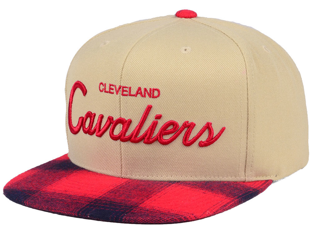 9676c75fc4e Cleveland Cavaliers Mitchell   Ness NBA 2 Plaid Snapback Cap