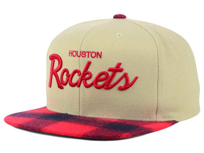 Houston Rockets Mitchell & Ness NBA 2 Plaid Snapback Cap