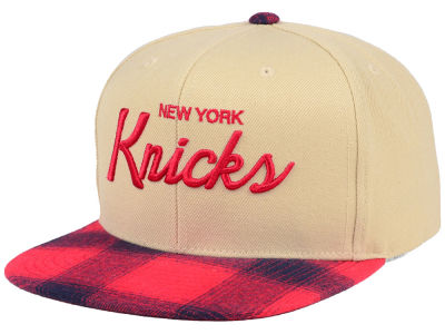 New York Knicks Mitchell & Ness NBA 2 Plaid Snapback Cap