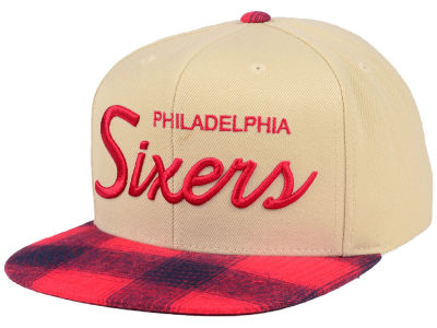 Philadelphia 76ers Mitchell & Ness NBA 2 Plaid Snapback Cap