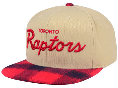Toronto Raptors Mitchell & Ness NBA 2 Plaid Snapback Cap