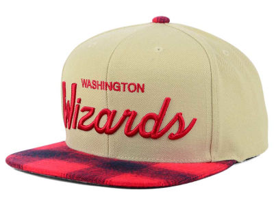 Washington Wizards Mitchell & Ness NBA 2 Plaid Snapback Cap