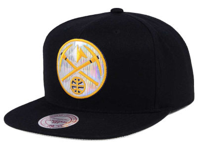 Denver Nuggets Mitchell & Ness NBA Easy Hologram Snapback Cap