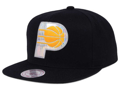 Indiana Pacers Mitchell & Ness NBA Easy Hologram Snapback Cap