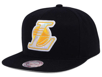 Los Angeles Lakers Mitchell & Ness NBA Easy Hologram Snapback Cap
