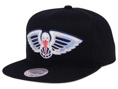 New Orleans Pelicans Mitchell & Ness NBA Easy Hologram Snapback Cap
