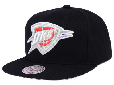 Oklahoma City Thunder Mitchell & Ness NBA Easy Hologram Snapback Cap