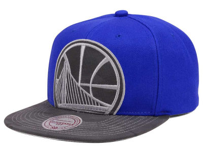 Golden State Warriors Mitchell & Ness NBA Reflective Cropped Camo Snapback Cap
