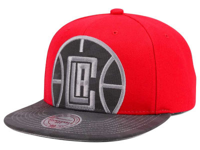 Los Angeles Clippers Mitchell & Ness NBA Reflective Cropped Camo Snapback Cap