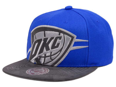 Oklahoma City Thunder Mitchell & Ness NBA Reflective Cropped Camo Snapback Cap