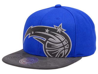 Orlando Magic Mitchell & Ness NBA Reflective Cropped Camo Snapback Cap