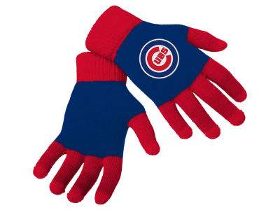 Chicago Cubs Color Block Knit Texting Glove