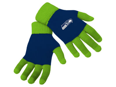 Seattle Seahawks Color Block Knit Texting Glove