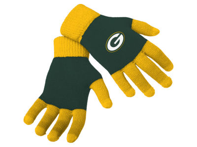Green Bay Packers Forever Collectibles Color Block Knit Texting Glove