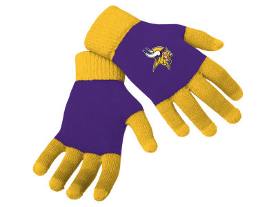 Minnesota Vikings Color Block Knit Texting Glove