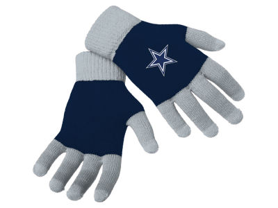 Dallas Cowboys Color Block Knit Texting Glove