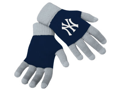 New York Yankees Forever Collectibles Color Block Knit Texting Glove