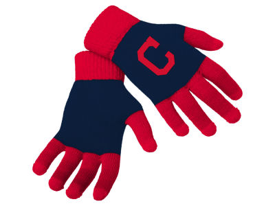 Cleveland Indians Forever Collectibles Color Block Knit Texting Glove