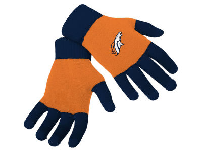 Denver Broncos Forever Collectibles Color Block Knit Texting Glove