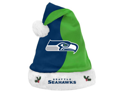 Seattle Seahawks Knit Sweater Santa Hat