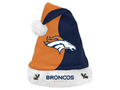Denver Broncos Knit Sweater Santa Hat