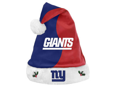 New York Giants Knit Sweater Santa Hat