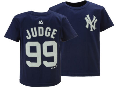 New York Yankees Aaron Judge Majestic MLB Youth Official Player T-Shirt