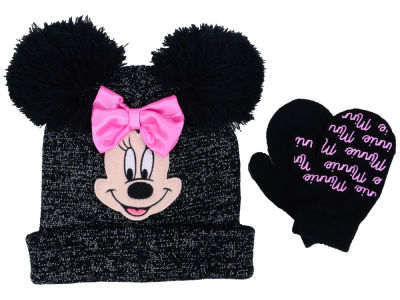Disney Minnie Lurex Pom Ear Knit