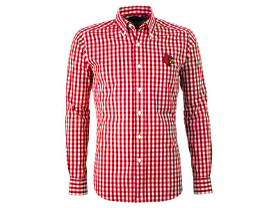 Louisville Cardinals Antigua NCAA Men's National Button Up