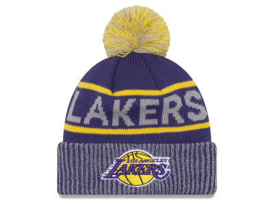 Los Angeles Lakers New Era NBA Court Force Pom Knit
