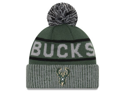 Milwaukee Bucks New Era NBA Court Force Pom Knit
