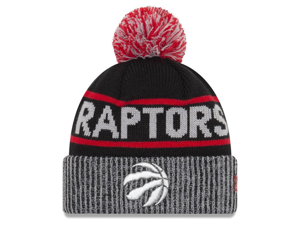 Toronto Raptors New Era NBA Court Force Pom Knit  6c015699f0f