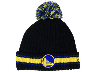 Golden State Warriors New Era NBA Basic Chunky Pom Knit