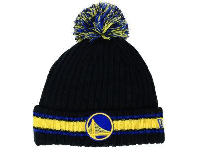huge discount 3b941 05828 Golden State Warriors New Era NBA Basic Chunky Pom Knit