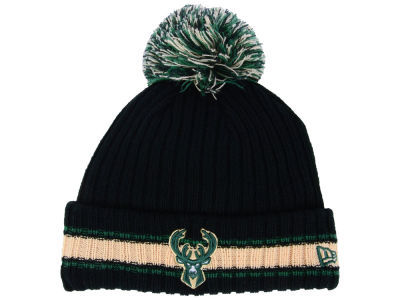 Milwaukee Bucks New Era NBA Basic Chunky Pom Knit
