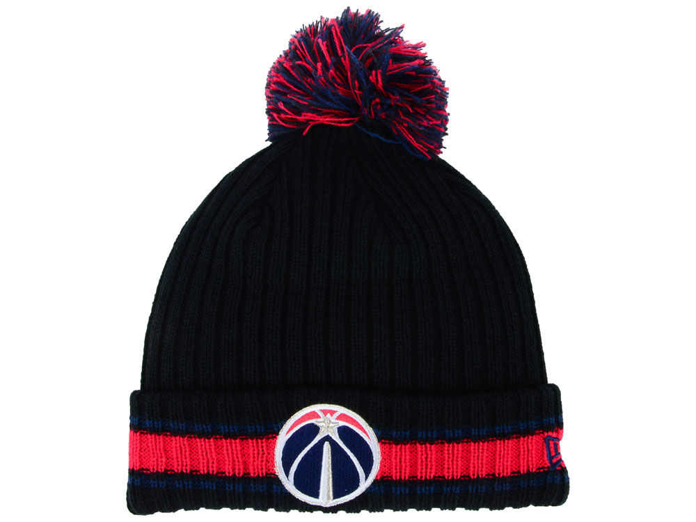 new style d3909 128c1 Washington Wizards New Era NBA Basic Chunky Pom Knit   lids.com